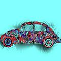 Retro Beetle Car 5 by Bekim Art