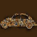 Retro Beetle Car 6 by Bekim Art