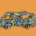 Retro Camper Van 2 by Bekim Art
