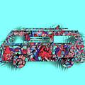 Retro Camper Van 3 by Bekim Art