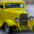 Retro Car In Yellow by Wolfgang Stocker