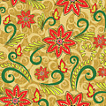 Retro Floral Seamless Pattern by Long Shot
