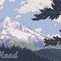Retro Mount Hood by Mitch Frey