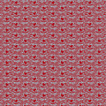 Retro Red Pattern by Alejandra Ortega
