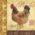 Retro Rooster 1 by Debbie DeWitt