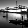 Retro San Francisco Oakland Bay Bridge by Jim Corwin