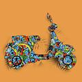 Retro Scooter 2 by Bekim Art