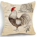 Retro Style Beige Chicken Rooster Farm House by Emily Adam