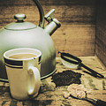 Retro Vintage Toned Tea Still Life In Crate by Jorgo Photography - Wall Art Gallery