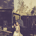 Retro Wedding Couple At Australian Farm Cottage by Jorgo Photography - Wall Art Gallery