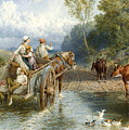 Returning From Market by Myles Birket Foster