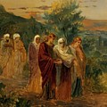 Returning From The Burial Of Christ by Ge Nikolai