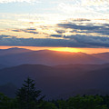 Returning Sunset Great Smoky Mountains by RD Erickson