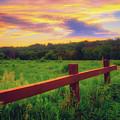 Retzer Nature Center - Sunset Over Field by Jennifer Rondinelli Reilly - Fine Art Photography