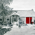 Retzlaff Winery With Red Door No. 2 by Mike Robles