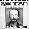 Reward Poster For Thomas Cole Younger by American School