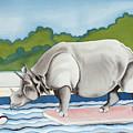 Rhino In La by Romy Muirhead