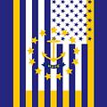 Rhode Island State Flag Graphic Usa Styling by Garaga Designs