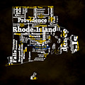 Rhode Island Typographic Map by Brian Reaves