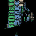 Rhode Island Word Cloud 2 by Naxart Studio