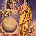 Rhum - Bottle - Earth - Map - Poster - Vintage - Wall Art - Art Print  - Girl  by Art Makes Happy