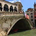 Rialto Bridge In Venice by Michael Henderson