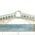 Rialto Bridge Venice by Juan Bosco