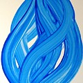 Ribbons Of Love-blue by Manjiri Kanvinde