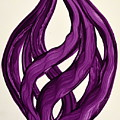 Ribbons Of Love-violet by Manjiri Kanvinde