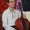 Ricardo With Cello by Diana Blackwell