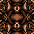 Rich Coffee Fractal Roses by Clayton Bruster