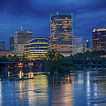 Richmond Skyline Above James River At Night 11972 by Doug Berry