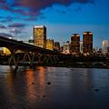 Richmond Skyline At Night by Aaron Dishner