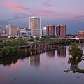 Richmond Skyline Sunset Pink by Jemmy Archer