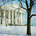 Richmond Virginia Capitol In Snow by Guy Crittenden