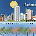 Richmond Virginia Horizontal Skyline by Karen Young