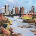 Richmond Virginia Skyline In Autumn by Donna Tuten