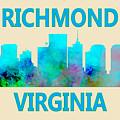 Richmond Virginia Skyline Watercolor by David Millenheft