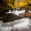 Ricketts Glen Autumn Flow by Josh Merrill