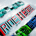 Ride In Powder Snowboard Graphics In The Snow by Andy Smy