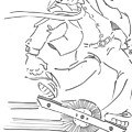 Ride One Wheel Cartoon - Never Be Late Again by Mike Jory