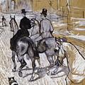 Riders On The Way To The Bois Du Bolougne by Henri De Toulouse Lautrec