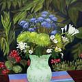 Ridge Lane Green Vase by Virginia Keith