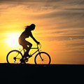 Riding At Sunset by Dave Fleetham - Printscapes
