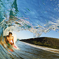 Riding Barrel At Makena by MakenaStockMedia - Printscapes
