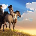 Riding Off Into The Sunset by Daniel Eskridge