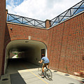 Riding The Rail Trail In Carmel, Indiana by Steve Gass
