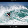 Riding The Wave - Maui Hawaii Posters Series by Denis Dore