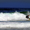 Riding The Waves At Asilomar State Beach Four by Joyce Dickens