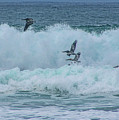 Riding The Waves At Wall Beach by Tommy Anderson